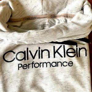 Medium Calvin Klein white and grey cowl sweater